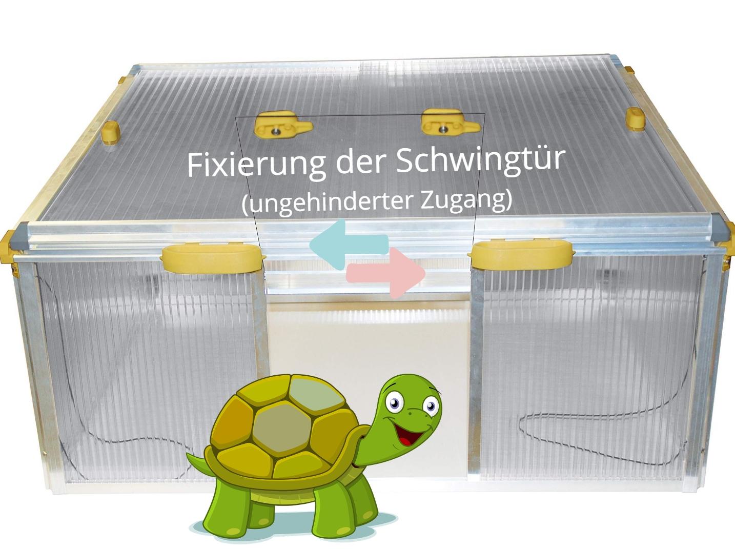 Fixierung-der-Schwingtuer-fuer-ungehinderten-Zugang-ins-Freigehege